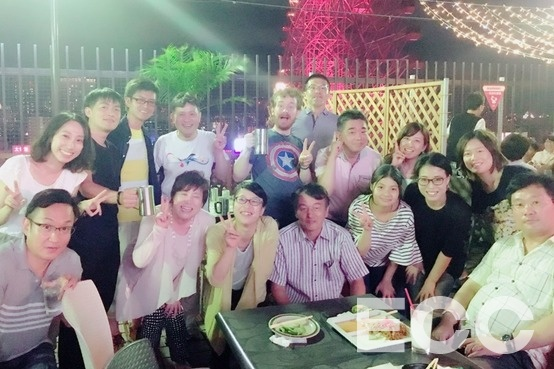 Beergarden party~!! We enjoyed drinking, eating and talking^^
